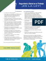 OSHA 3167-8514 - Seguridad y Salud en el Trabajo ¡ES LA LEY!