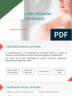 Corrientes Más Utilizadas en Electroterapia