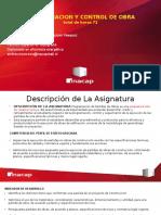 1.-Presentacion Programacion de Partidas de Obra