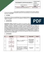 3. Procedimiento Contratacion Directa V4