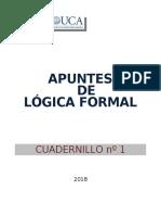 APUNTES LOGICA Y EPISTEMOLOGÍA 2020 (CUADERNILLO 1)