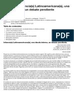 Clase XVI. Infancia(s) Latinoamericana(s), una deuda interna, un debate pendiente