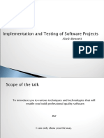 Implementation and Testing of Software Projects