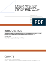 PASSIVE SOLAR ASPECTS OF TRADITIONAL RESIDENTIAL BUILDING OF KATHMANU VALLEY