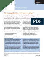 Menu Regulation