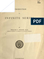 Introduction to Infinite Series, William F. Osgood