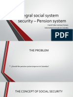 Integral social system security – Pension system