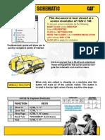 Diagrama hidráulico Topadora Caterpillar D7R