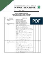 Daftar Tilik Instalasi Gizi