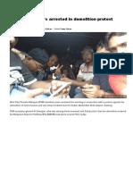 Nine PSM members arrested in demolition protest