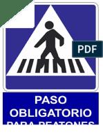 señalizacion paso obligatorio para peatones