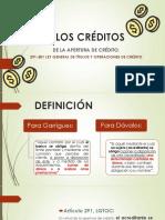 DE LOS CRÉDITOS. APERTURA DE CRÉDITO Y CUENTA CORRIENTE.pdf
