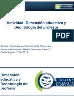 CLAUDIA  CASAS TRUJILLO Actividad 4.2 Deontología