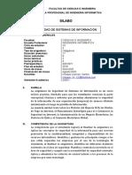 Silabus Seguridad de Sistemas de Infromacion 2020 I