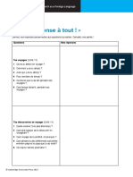 Cambridge IGCSE French Worksheet R6.01