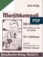 Der Marschkompaß und sein Gebrauch(Wehrmacht-Lehrschrift von Oberleutnant Dembowski)