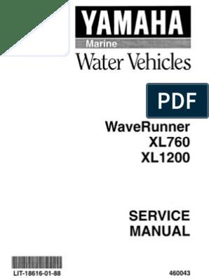 Yamaha Wave Runner - XL700 Repair Manual | Carburetor