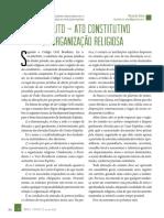 ESTATUTO – ATO CONSTITUTIVO DA ORGANIZAÇÃO RELIGIOSA