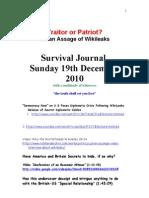 Survival Journal 19th December 2010