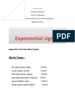 Exponential Signals
