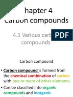 Chapter 4 Carbon compounds part 1