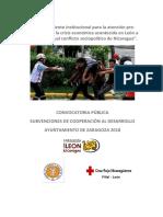 Proyecto Fortalecimiento Institucional (Nicaragua)