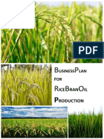 Business Case (2) - RICE BRAN OIL PRODUCTION