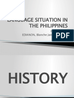LANGUAGE SITUATION IN THE PHILIPPINES by Edianon