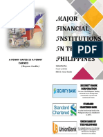 CATALOGUE OF MAJOR FINANCIAL INSTITUTIONS IN THE PHILIPPINES