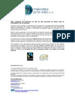 Nota de Prensa Adjudicacion Aena