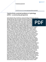 Twenty three unsolved problems in hydrology UPH a community perspective