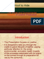 Leather and Tanning-Origin and Impact on Environment