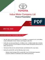 Security Analyst Dec 31 2019 Toyota
