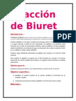 Reacción de Biuret