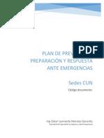 Plan de prevención, preparación y respuesta ante emergencias