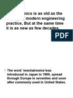 Mechatronics Basic Introduction
