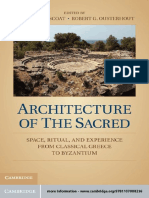 Architecture of the sacred _ space, ritual, and experience from classical Greece to Byzantium