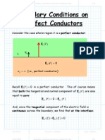 Boundary Conditions on Perfect Conductors