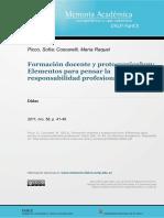 Coscarelli Protocurriculum en formación docente
