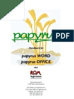 Papyrus X HB Inhaltsverzeichnis