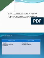 PRESENTASI EVALUASI PIS PK  trimestrer 1 2019