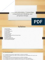 General Principles, Connecting Computational Thinking and Program