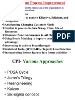 Continuous Process Improvement Methods CPI