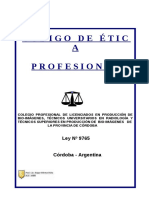 Código de Ética Profesional (Córdoba)