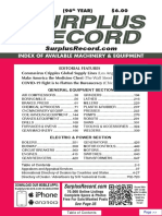 MAY 2020 Surplus Record Machinery & Equipment Directory