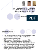 History of Libraries & Library Movement in India