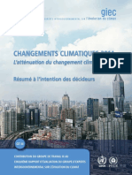 Climatic changes - GIEC report 2014 - FR langage