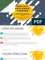 Analisis Geoteknik Terapan