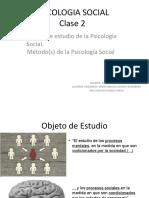 Objeto de estudio de la Psicología Social