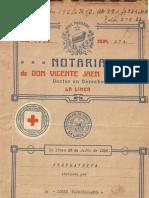 Escritura Cruz Roja 1928